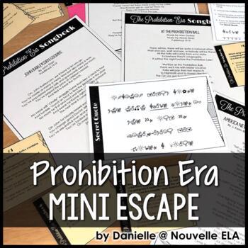 The Great Gatsby - Prohibition-Era Songs Close Reading - Mini-Escape Game