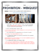 Prohibition in America - Webquest with Key