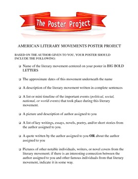 Project: American Literature Movement Poster Project