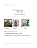 Project- Antebellum Period 1800-1860- US History