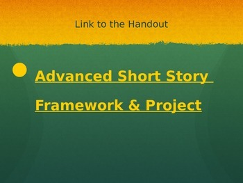PowerPoint: Narrative Writing: Plot Project + Writing +Learning Styles