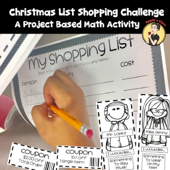 Christmas Math Project Based Learning Grades 3-5