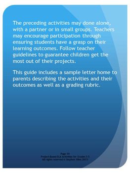 Project-Based ELA Activities for Grades 3-5