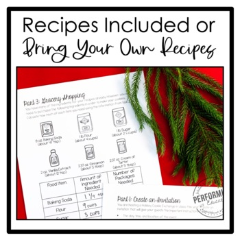 Christmas Project Based Learning | Holiday Cookie Exchange Math Project