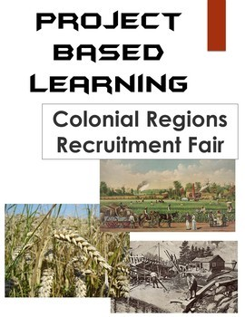 13 Colonies Project Based Learning: Colonial America Regions PBL