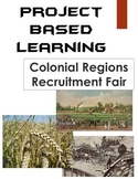 13 Colonies Project Based Learning: Colonial America Regions Recruitment Fair