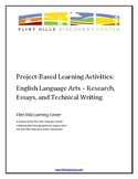 Project-Based Learning Activities - ELA - Research, Essays