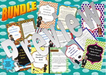 U.S. Historical Figures: Project Based Learning Activity:  **BUNDLE**