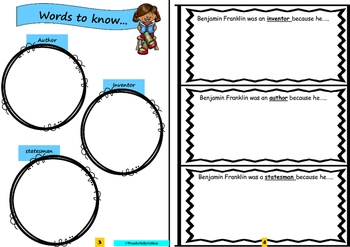 Benjamin Franklin: Project Based Learning Activity