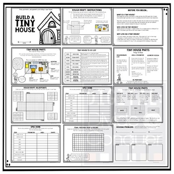 Build A Tiny House Project Based Learning Activity Instructions Pdf