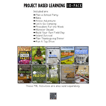 Project Based Learning Activity Bundle 10-Pack,  Part 2 (PBL)
