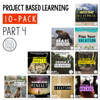 Project Based Learning Activity Bundle 10-Pack,  Part 4  (PBL)