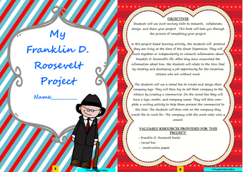 Franklin D Roosevelt: Project Based Learning Activity