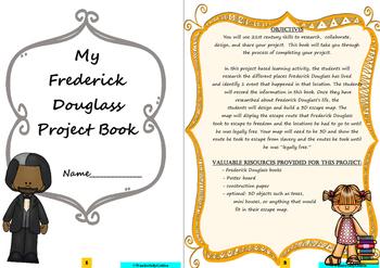 Frederick Douglass: Project Based Learning Activity (Black/White)