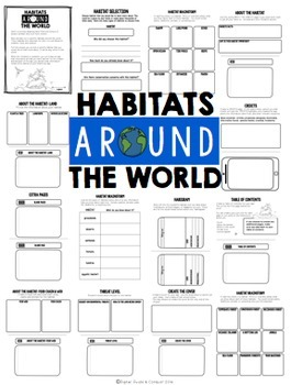 Project Based Learning Activity:  Habitats Around the World, Build An App (PBL)