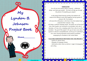 Lyndon B. Johnson: Project Based Learning Activity (color)