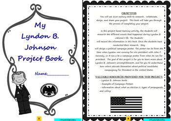 Lyndon B. Johnson: Project Based Learning Activity (Black