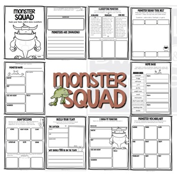 Project Based Learning Activity:  Monster Squad  (PBL)