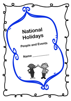 National Holidays: Project Based Learning Activity