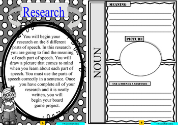 Project Based Learning Activity: Parts of Speech
