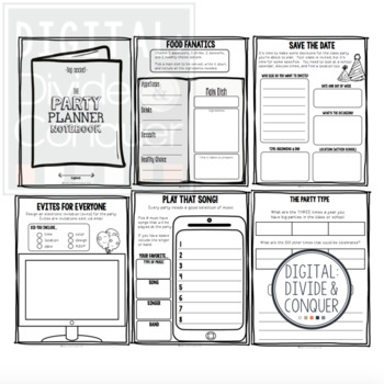 Project Based Learning Activity:  Plan A School Party (PBL)