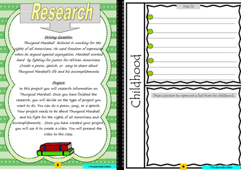Thurgood Marshall:Project Based Learning Activity (color)