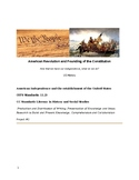American Revolution and Constitution- Project Based Learning (US History)