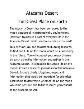 Project Based Learning Atacama Desert