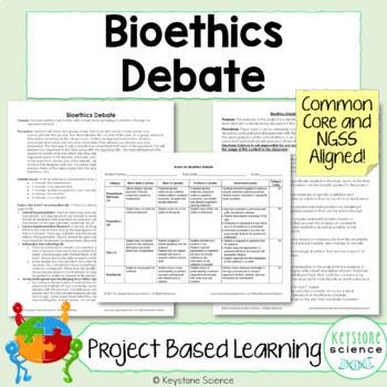Project Based Learning Bioethics Debate PBL Genetics Evolution Ecology