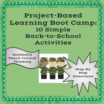 Project Based Learning Back to School Boot Camp: 10 Simple Activities