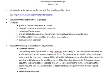 Project-Based Learning- Community Service Awareness