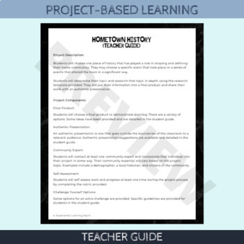 Project-Based Learning: Create a Hometown Tour (for beginner PBL learners)