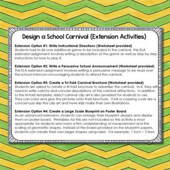 Project Based Learning: Area & Perimeter {Design a School Carnival}