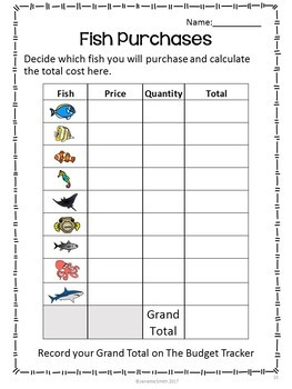 Project Based Learning: Design an Aquarium