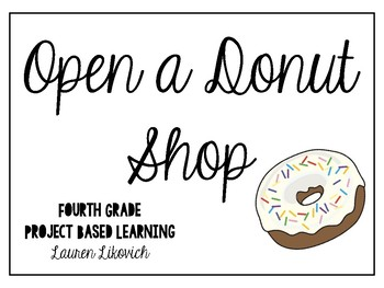 Project Based Learning Donut Shop