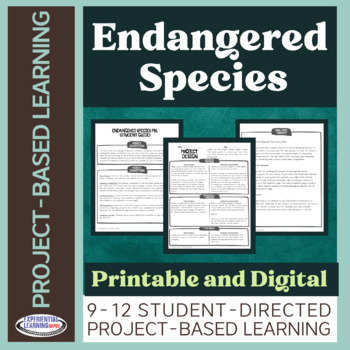 FREE SAMPLE Project-Based Learning: Endangered Species