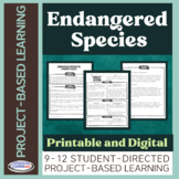 Project-Based Learning: Endangered Species (for mid-level