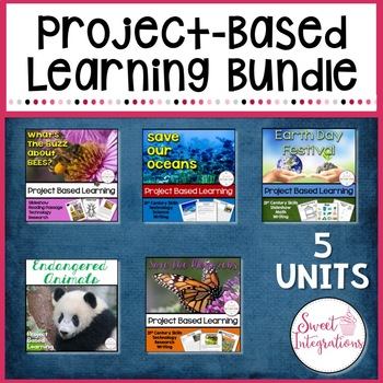 PROJECT BASED LEARNING BUNDLE: Endangered Species, Environment, Earth Day