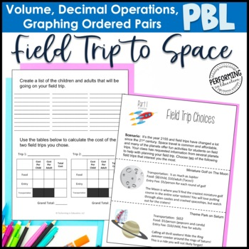 Project Based Learning: Field Trip to Space - Decimals, Gr