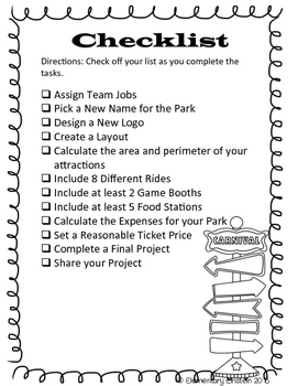 Project Based Learning: Funtastic Amusement Park!