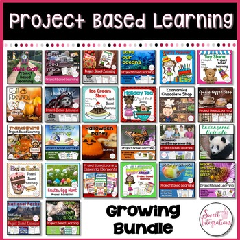 PROJECT BASED LEARNING ACTIVITIES: Growing Bundle Math, Social Studies, Science