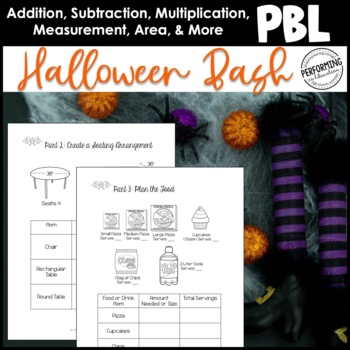 Halloween Math Project Based Learning: Plan a Halloween or Fall Party