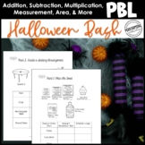 Halloween Math Project Based Learning: Plan a Halloween or