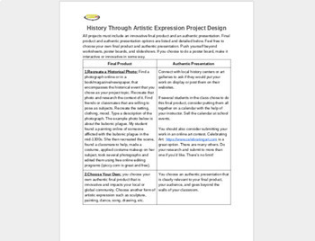 Project-Based Learning: History Through Artistic Expression (Beginner PBL)