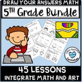 Math Art Activities 5th Grade Growing Bundle