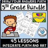 Math Art Activities Early Finishers 5th Grade Bundle