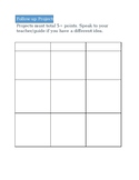 Project Based Learning Inspired Follow-Up Sheet for Montessori