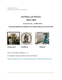 19th Century Antebellum Period- US History and Government Project