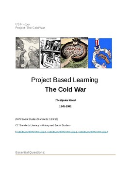 The Cold War- Project Based Learning (US History) Google