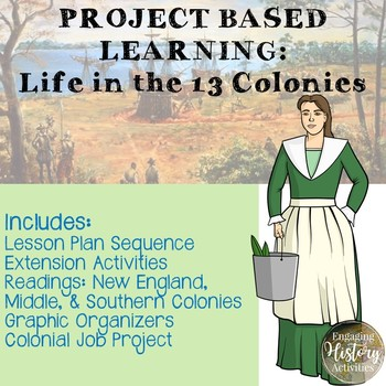 Project Based Learning:  Life in the 13 Colonies